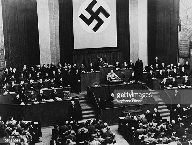 Reichstag Full Power For The Chancellor Adolf Hitler In Berlin On March 24Th 1933