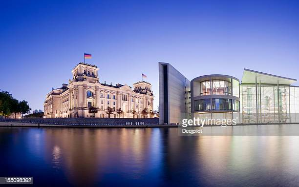 Reichstag Parliament Building on the Spree River in Berlin Germany