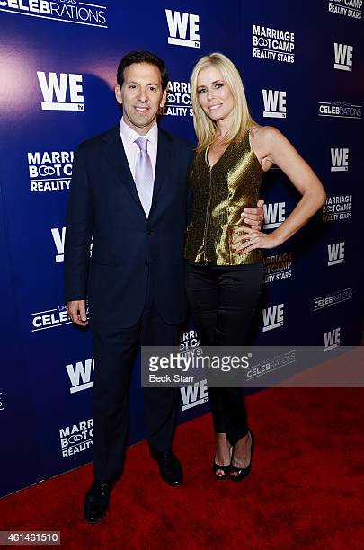 Reid and Aviva Drescher arrive at WE TV's 'Marriage Boot Camp Reality Stars' 'David Tutera's Celebrations' premiere party at 1 OAK on January 8 2015...