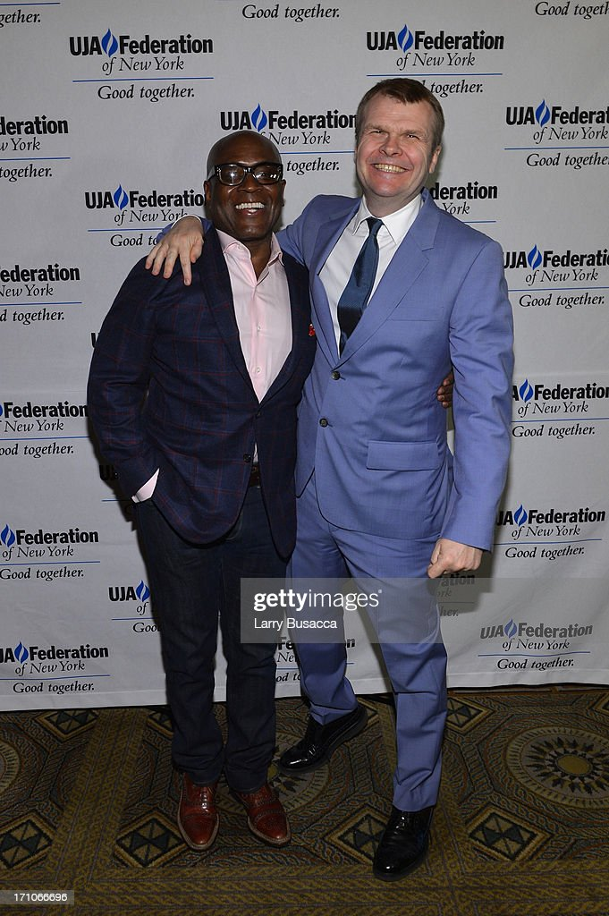 L.A. Reid and Rob Stringer attend a luncheon honoring Rob Stringer as UJA-Federation of New York Music Visionary of 2013 at The Pierre Hotel on June 21, 2013 in New York City.