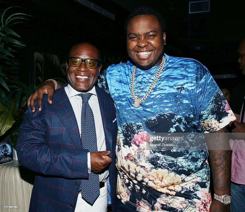 LA Reid and <a gi-track='captionPersonalityLinkClicked' href=/galleries/search?phrase=Sean+Kingston&family=editorial&specificpeople=4413979 ng-click='$event.stopPropagation()'>Sean Kingston</a> attend the <a gi-track='captionPersonalityLinkClicked' href=/galleries/search?phrase=Sean+Kingston&family=editorial&specificpeople=4413979 ng-click='$event.stopPropagation()'>Sean Kingston</a> 'Back 2 Life' album listening party at No. 8 on August 21, 2013 in New York City.