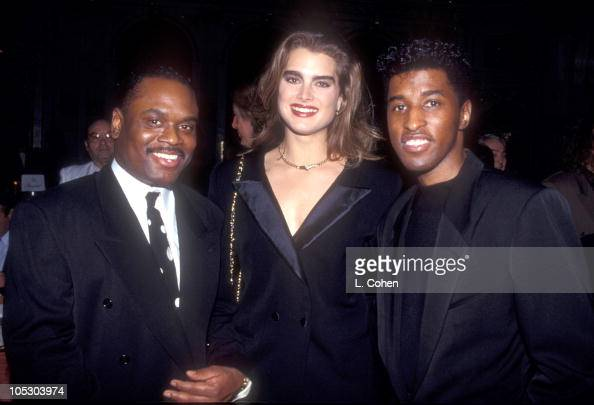 LA Reid Brooke Shields and Kenny 'Babyface' Edmonds