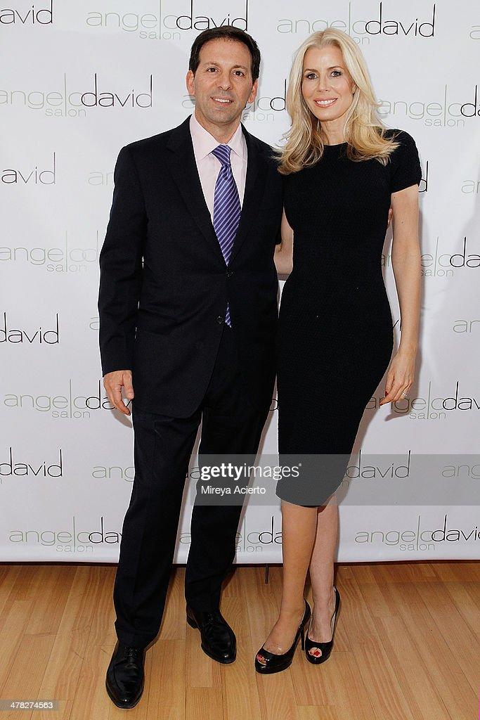 Reid Drescher and author Aviva Drescher attend the 'Leggy Blonde' Book Event at Angelo David Salon on March 12, 2014 in New York City.