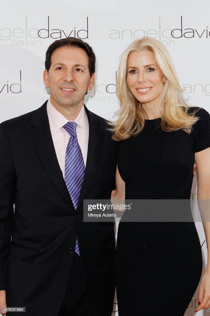 Reid Drescher and Aviva Drescher attend the 'Leggy Blonde' Book Event at Angelo David Salon on March 12, 2014 in New York City.