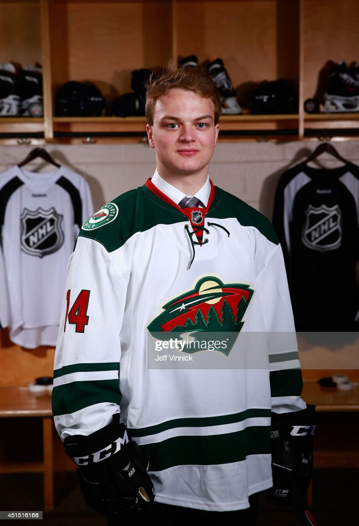 Reid Duke, 169th overall pick of the Minnesota Wild, poses for a portrait during the 2014 NHL Entry Draft at Wells Fargo Center on June 28, 2014 in Philadelphia, Pennsylvania.