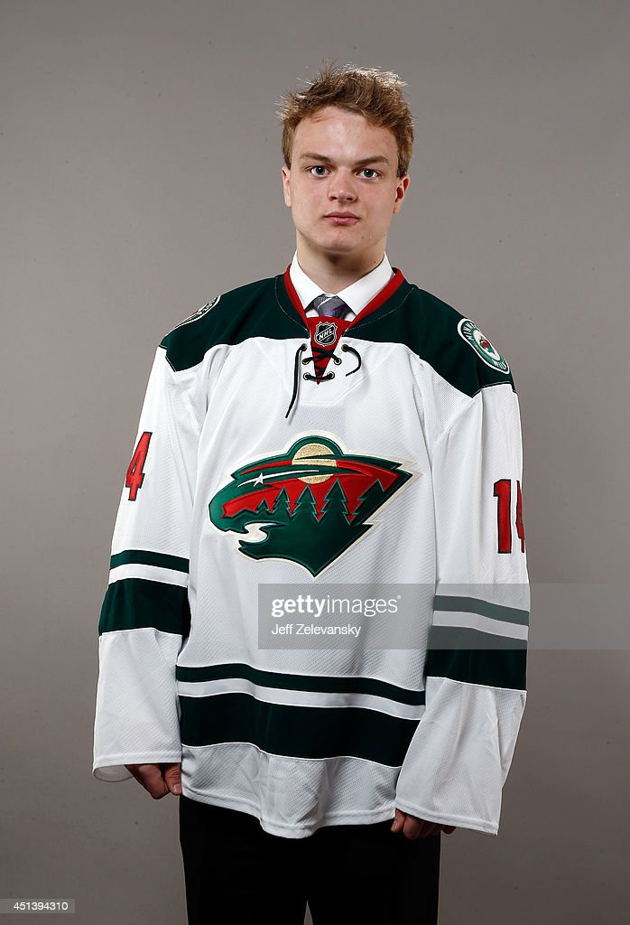 Reid Duke of the Minnesota Wild poses for a portrait during the 2014 NHL Draft at the Wells Fargo Center on June 28, 2014 in Philadelphia, Pennsylvania.