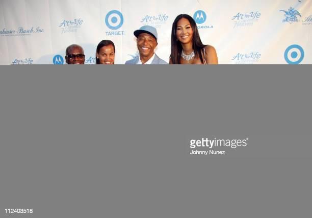LA Reid Erica Reid Russell Simmons Kimora Lee Simmons Aoki Lee Simmons and Ming Lee Simmons