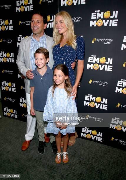 Reid H Drescher Aviva Drescher Hudson Drescher and Sienna Drescher attend 'The Emoji Movie' Special Screening at NYIT Auditorium on Broadway on July...