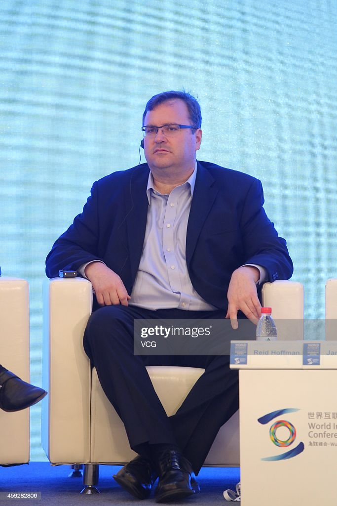 <a gi-track='captionPersonalityLinkClicked' href=/galleries/search?phrase=Reid+Hoffman&family=editorial&specificpeople=6365854 ng-click='$event.stopPropagation()'>Reid Hoffman</a>, chairman and co-founder of LinkedIn Corp., attends 2014 World Internet Conference on November 20, 2014 in Wuzhen, Zhejiang province of China. The first World Internet Conference is being held in Wuzhen from November 19 to November 21.
