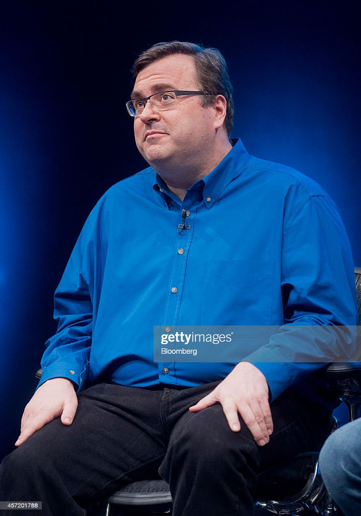 <a gi-track='captionPersonalityLinkClicked' href=/galleries/search?phrase=Reid+Hoffman&family=editorial&specificpeople=6365854 ng-click='$event.stopPropagation()'>Reid Hoffman</a>, chairman and co-founder of LinkedIn Corp., looks on during a panel discussion at the DreamForce Conference in San Francisco, California, U.S., on Monday, Oct. 13, 2014. Salesforce.com Inc. is entering a new business, data analytics and business intelligence, seeking to maintain growth and persuade customers to pour more of their information into its data centers. Photographer: Noah Berger/Bloomberg via Getty Images
