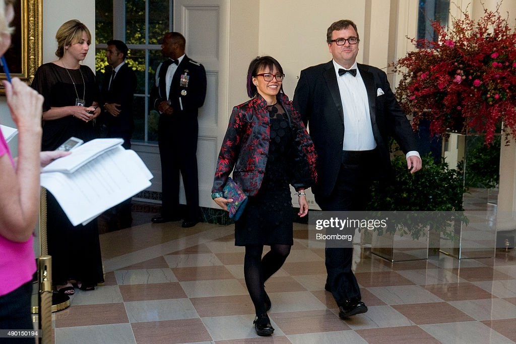 <a gi-track='captionPersonalityLinkClicked' href=/galleries/search?phrase=Reid+Hoffman&family=editorial&specificpeople=6365854 ng-click='$event.stopPropagation()'>Reid Hoffman</a>, chairman and co-founder of LinkedIn Corp., right, and Michelle Yee arrive at a state dinner in honor of Chinese President Xi Jinping at the White House in Washington, D.C., U.S., on Friday, Sept. 25, 2015. The U.S. and China announced agreement on broad anti-hacking principles aimed at stopping the theft of corporate trade secrets though President Barack Obama pointedly said he has not ruled out invoking sanctions for violators. Photographer: Andrew Harrer/Bloomberg via Getty Images