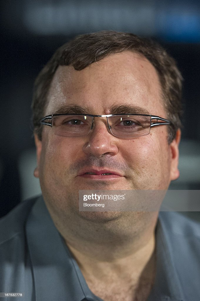 Reid Hoffman, chairman and co-founder of LinkedIn Corp., speaks during a Bloomberg West Television interview at the company's headquarters in Mountain View, California, U.S. on Thursday, April 25, 2013. LinkedIn Corp. added publishing platform Pulse, a news-reading application used by more than 20 million people in 190 countries, for news and content this month. Photographer: David Paul Morris/Bloomberg via Getty Images