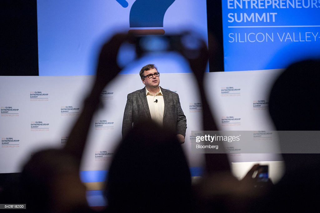 <a gi-track='captionPersonalityLinkClicked' href=/galleries/search?phrase=Reid+Hoffman&family=editorial&specificpeople=6365854 ng-click='$event.stopPropagation()'>Reid Hoffman</a>, chairman and co-founder of LinkedIn Corp., speaks during the 2016 Global Entrepreneurship Summit (GES) at Stanford University in Stanford, California, U.S., on Thursday, June 23, 2016. The annual event brings together entrepreneurs from around the world for 3 days of networking, workshops and conferences. Photographer: David Paul Morris/Bloomberg via Getty Images