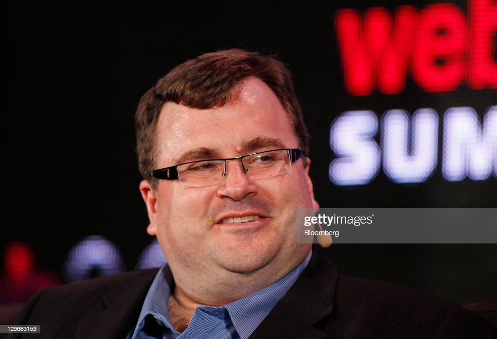 Reid Hoffman, co-founder and chairman of LinkedIn Corp. and a partner at Greylock Partners, speaks at the Web 2.0 Summit in San Francisco, California, U.S., on Wednesday, Oct. 19, 2011. The conference brings together 1,000 senior executives from the worlds of technology, media, finance, telecommunications, entertainment, and the Internet. Photographer: Tony Avelar/Bloomberg via Getty Images