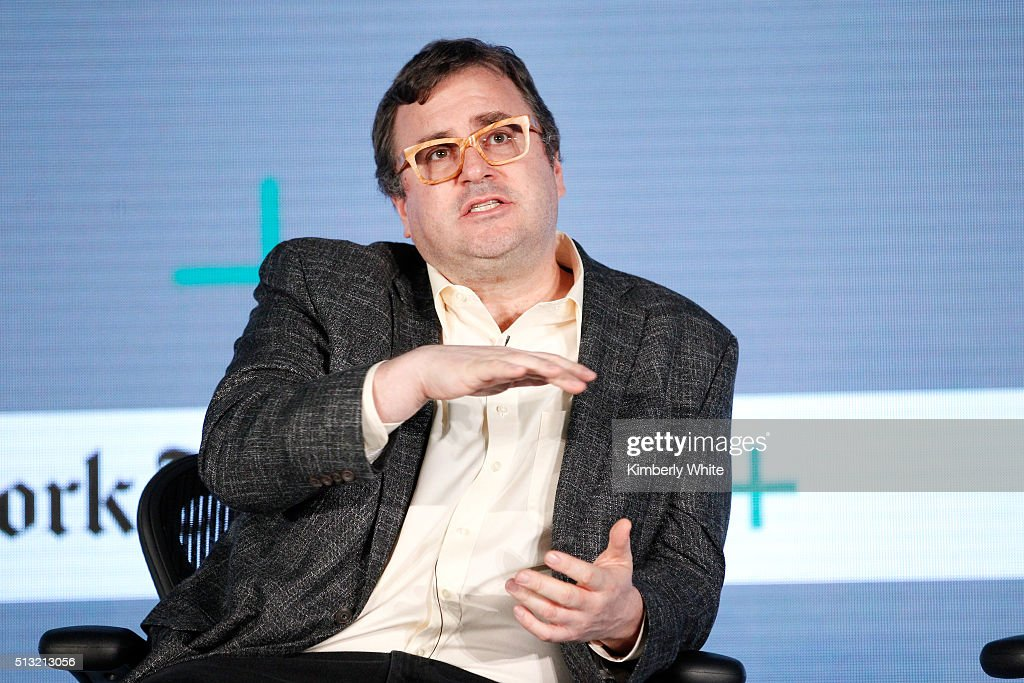 <a gi-track='captionPersonalityLinkClicked' href=/galleries/search?phrase=Reid+Hoffman&family=editorial&specificpeople=6365854 ng-click='$event.stopPropagation()'>Reid Hoffman</a>, Co-Founder and Executive Chairman of LinkedIn, speaks onstage at The New York Times New Work Summit on March 1, 2016 in Half Moon Bay, California.