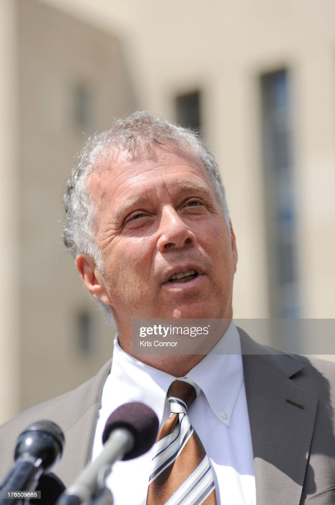 Reid Weingarten speaks outside the E. Barrett Prettyman United States Court House after his client former Rep. Jesse Jackson Jr. and his wife Sandi Jackson were sentenced for using $750,000 in campaign money to pay for living expense, clothing and luxury items on August 14, 2013 in Washington, DC. The former Illinois congressman was sentenced to 30 months in prision and his wife received a 12-month prison term.