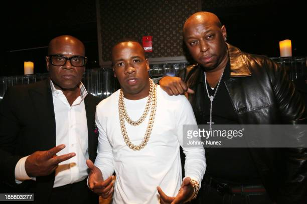 LA Reid Yo Gotti and Sha Money XL attend the Yo Gotti 'I Am' listening session at Jungle City Studios on October 24 2013 in New York City