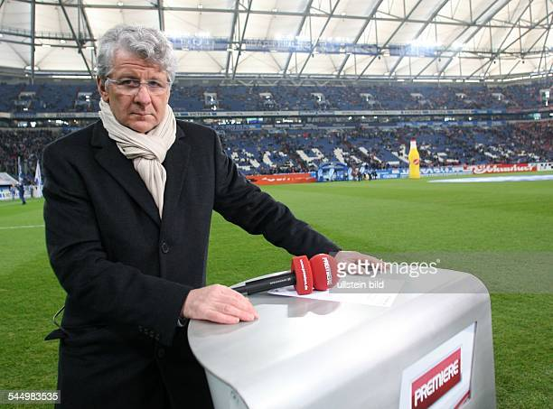 Reif Marcel Sports Reporter Germany during broadcast of Bundesliga match by pay TV station Premiere from Veltins Arena in Gelsenkirchen