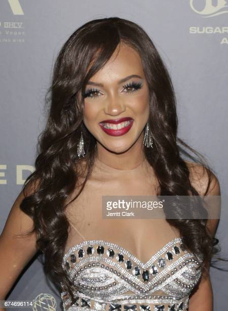 Reign Edwards attends the 44th Annual Daytime Creative Arts Emmy Awards Press Room at Pasadena Civic Auditorium on April 28 2017 in Pasadena...