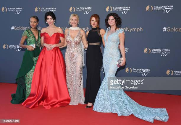 Reign Edwards Jacqueline MacInnes Wood Katherine Kelly Lang Courtney Hope and Heather Tom attend the closing ceremony of the 57th Monte Carlo TV...