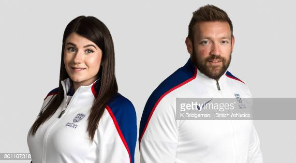 Reigning Paralympic and world F46 javelin champion Hollie Arnold and ninetime Paralympic and world medallist Dan Greaves pose for a portrait to mark...