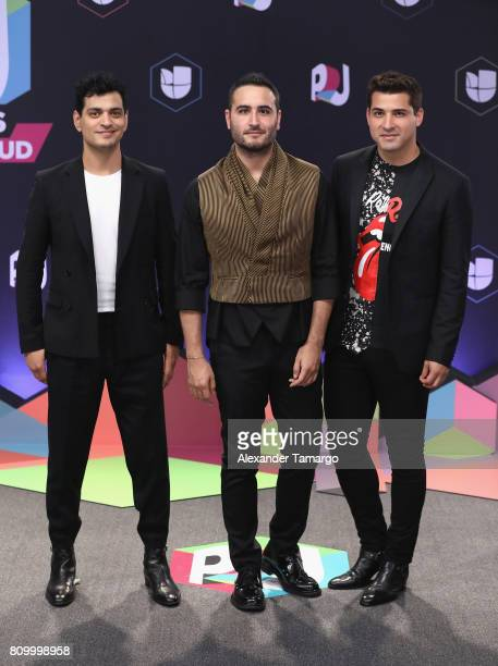 Reik attends the Univision's 'Premios Juventud' 2017 Celebrates The Hottest Musical Artists And Young Latinos ChangeMakers at Watsco Center on July 6...