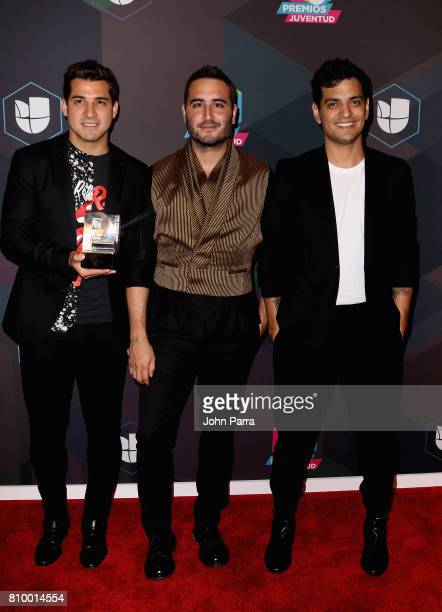 Reik attends the Univision's 'Premios Juventud' 2017 Celebrates The Hottest Musical Artists And Young Latinos ChangeMakers Media Center at the Watsco...