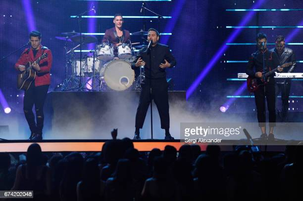 Reik perform onstage at the Billboard Latin Music Awards at Watsco Center on April 27 2017 in Coral Gables Florida