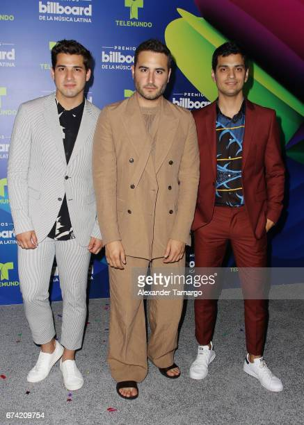 Reik poses in the press room during the Billboard Latin Music Awards at Watsco Center on April 27 2017 in Coral Gables Florida