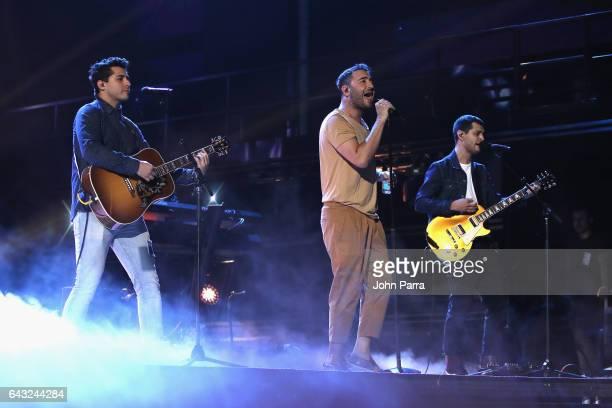 Reik rehearses on stage at Univision's 29th Edition Of Premio Lo Nuestro A La Musica Latina on February 20 2017 in Miami Florida