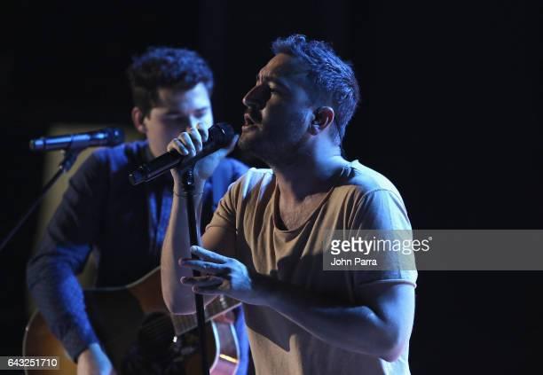 Reik rehearses on stage at Univision's 29th Edition Of Premio Lo Nuestro A La Musica Latina Rehearsals Day 1 on February 20 2017 in Miami Florida