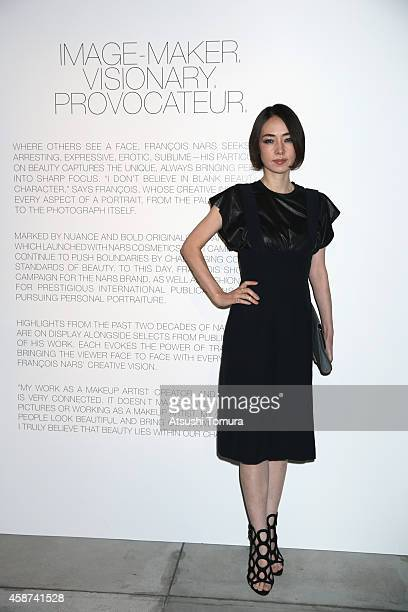 Reika Kirishima with makeup by NARS attends NARS Photo Exhibition And 20th Anniversary Party at ANdAZ Hotel on November 7 2014 in Tokyo Japan