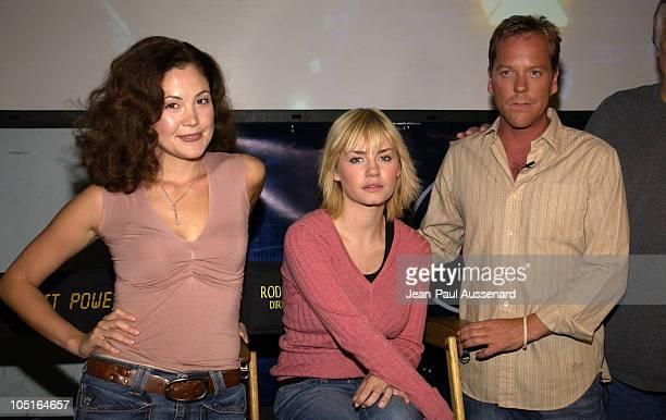 Reiko Aylesworth Elisha Cuthbert and Kiefer Sutherland