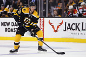 Reilly Smith of the Boston Bruins skates against the Florida Panthers during the third period at TD Garden on March 31 2015 in Boston Massachusetts...
