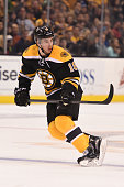Reilly Smith of the Boston Bruins skates against the Tampa Bay Lightning at the TD Garden on March 12 2015 in Boston Massachusetts