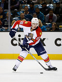 Reilly Smith of the Florida Panthers in action against the San Jose Sharks at SAP Center on November 5 2015 in San Jose California