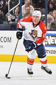 Reilly Smith of the Florida Panthers skates against the Columbus Blue Jackets on February 27 2016 at Nationwide Arena in Columbus Ohio