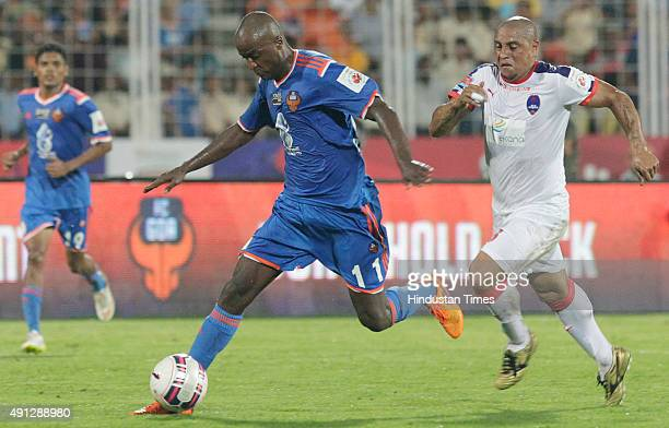 Reinaldo Da Cruz Oliveira of FC Goa in action against Delhi Dynamos FC during the 2nd match of Indian Super League 2015 at Jawaharlal Nehru Stadium...