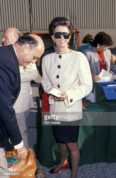 Reinaldo Herrera and Countess Aline de Romanones during Reinaldo Herrera Departs from JFK Airport for Malcolm Forbes' Birthday Party August 18 1989...