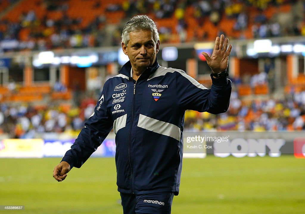 <a gi-track='captionPersonalityLinkClicked' href=/galleries/search?phrase=Reinaldo+Rueda&family=editorial&specificpeople=2210216 ng-click='$event.stopPropagation()'>Reinaldo Rueda</a>, manager of the Ecuador national team, against Honduras during an international friendly match at BBVA Compass Stadium on November 19, 2013 in Houston, Texas.