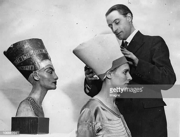 Reincarnation The picture shows Miss E C Butt who is claimed to be a reincarnation of the famous queen of ancient Egypt Queen Nefertiti photographed...