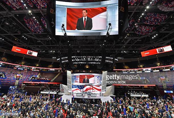 Reince Priebus Chairman of the Republican National Committee opens the Republican National Convention on July 18 2016 in Cleveland Ohio Thousands of...