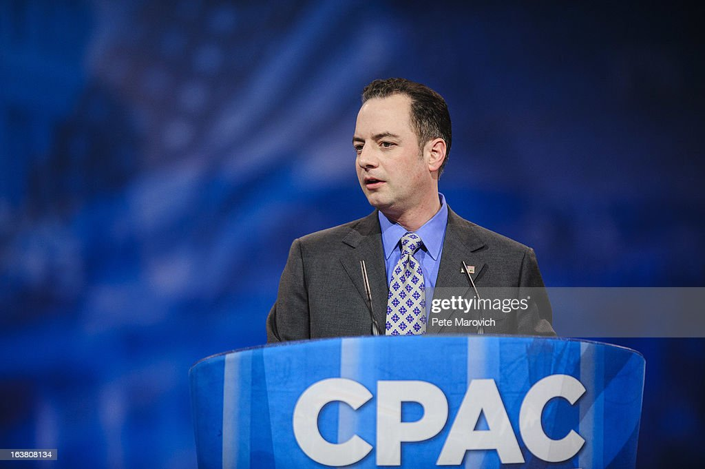 Reince Priebus, Chairman of the Republican National Committee, speaks at the 2013 Conservative Political Action Conference (CPAC) March 16, 2013 in National Harbor, Maryland. The American Conservative Union held its annual conference in the suburb of Washington, DC to rally conservatives and generate ideas.