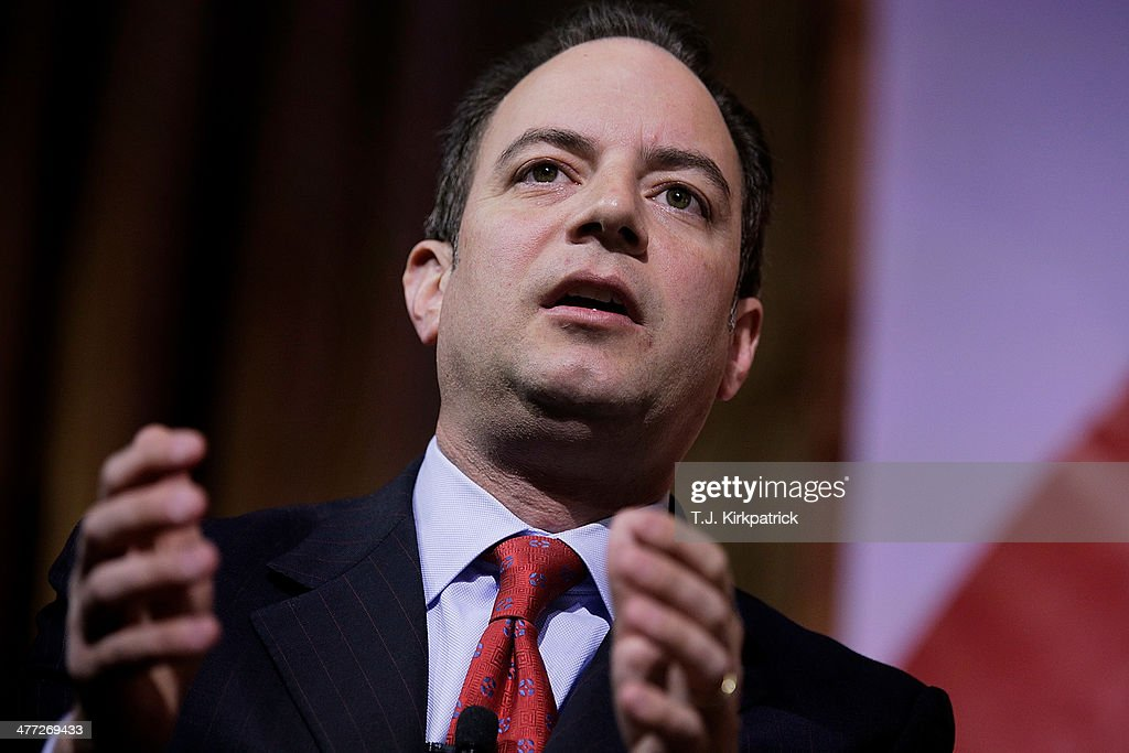 <a gi-track='captionPersonalityLinkClicked' href=/galleries/search?phrase=Reince+Priebus&family=editorial&specificpeople=7419119 ng-click='$event.stopPropagation()'>Reince Priebus</a>, chairman of the Republican National Committee, speaks on a panel during the 41st annual Conservative Political Action Conference at the Gaylord International Hotel and Conference Center on March 8, 2014 in National Harbor, Maryland. The conference, a project of the American Conservative Union, brings together conservatives polticians, pundits and voters for three days of speeches and workshops.
