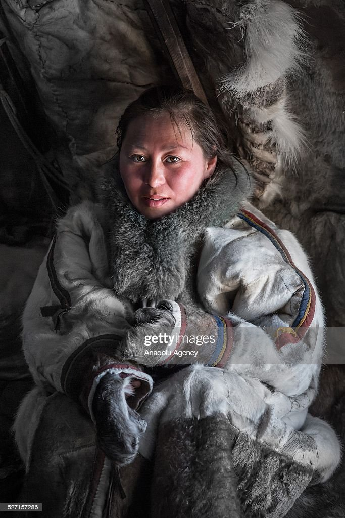 A reindeer herder poses for a photograph at Nomad camp, 150 km from the town of Salekhard, Yamalo-Nenets Autonomous Okrug in Russia on May 2, 2016.