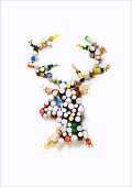 Reindeer made out of anxiety-relieving medication