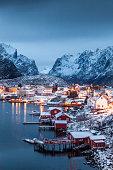Der Ort Reine auf den Lofoten in Norwegen
