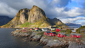 Fishing huts at Reine, Lofoten islands, Norway