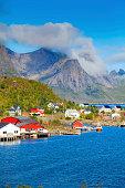 Reine - Norway village in sea, Lofoten