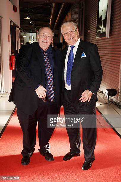 Reiner Calmund and Heinz Horrman attend the RTL Telethon 2013 on November 21 2013 in Cologne Germany